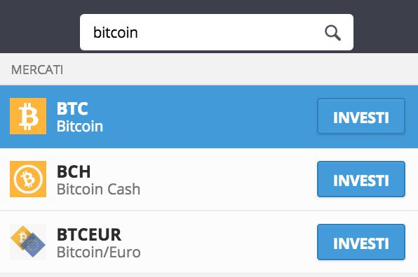 come trovare bitcoin su etoro