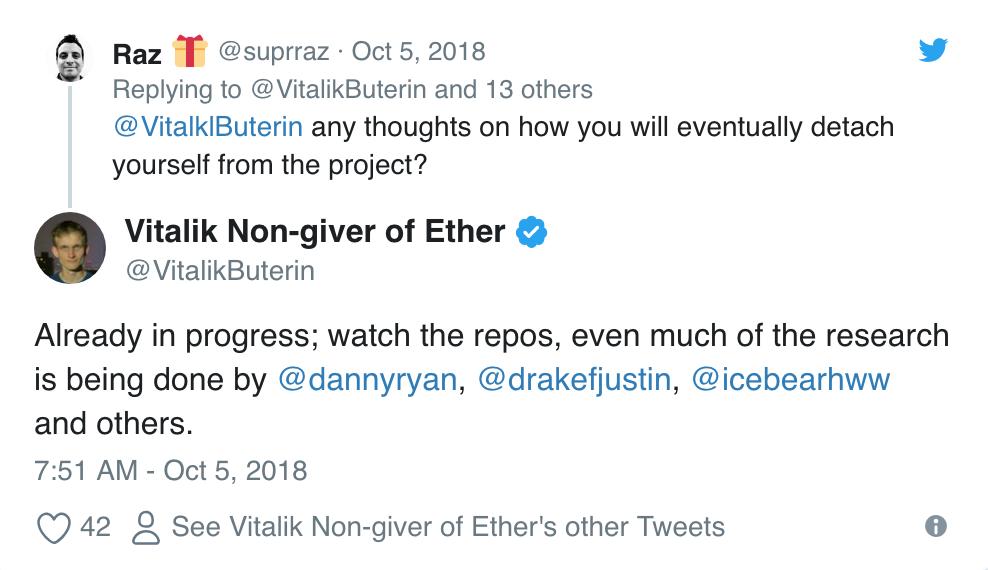 vitalik buterin suggerisce addio ad ethereum