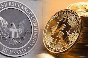 il logo di sec e bitcoin
