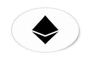 il logo di ethereum su sfondo bianco