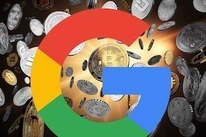 il logo di Google e Bitcoin