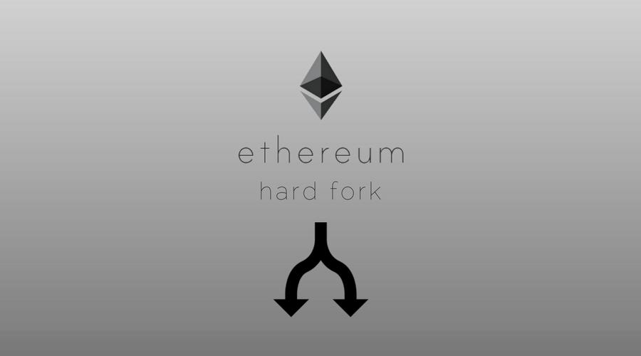 rappresentazione grafica dell'hard fork di ethereum