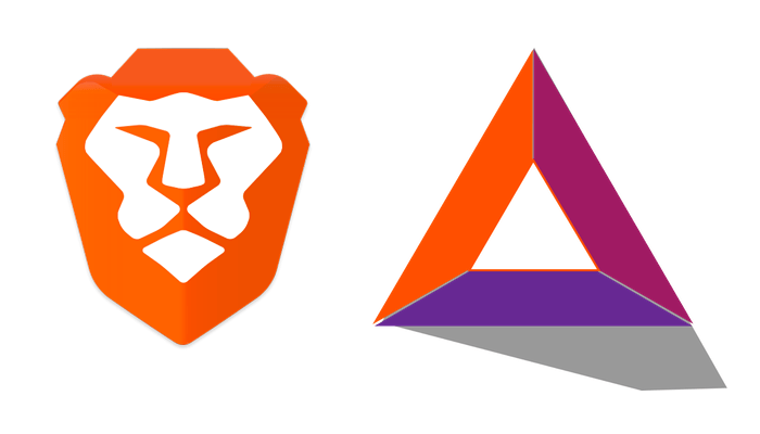 il logo di brave browser e basic attention token