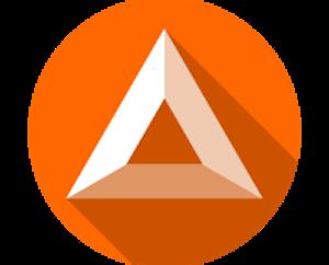 il logo di bat in arancione