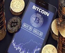 interfaccia di trading bitcoin su smartphone