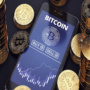 interfaccia di trading bitcoin su smartphone