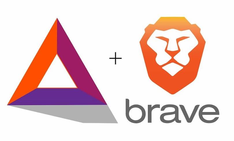 il logo di Brave Browser e BAT