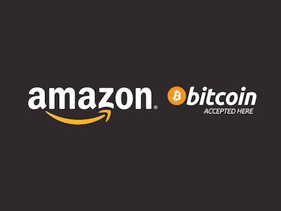 il logo di amazon e bitcoin