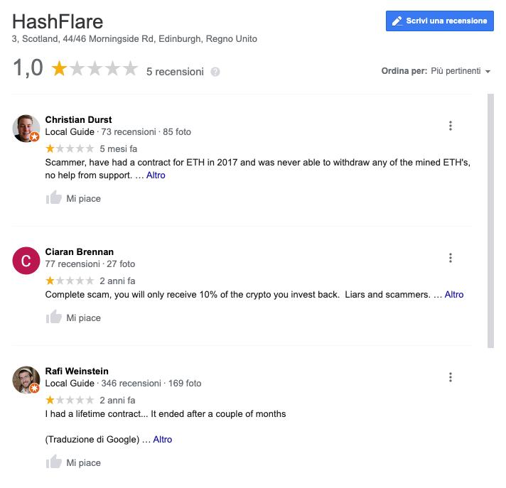 commenti HashFlare