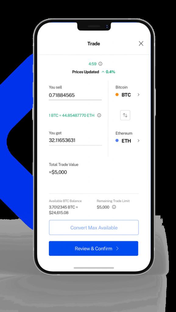 l'app mobile di BlockFi