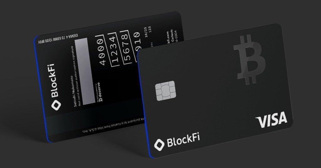 carta di credito BlockFi Visa