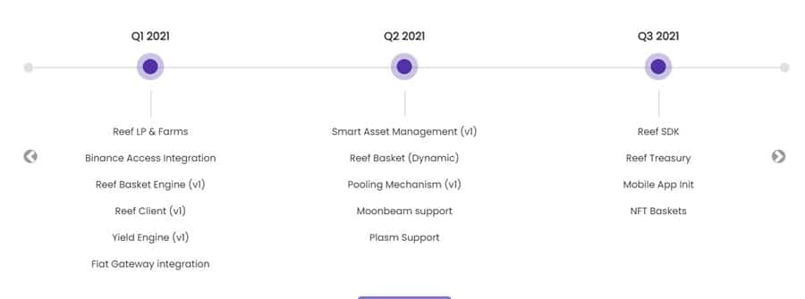 la roadmap di Reef nel 2021